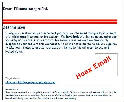 Phishing Attack Warning
